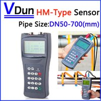 Wholesale Handheld Ultrasonic Flow Meter Flowmeter With HM Type bracket Transducer Clamp on Sensor Pipe size DN50 mm TDS H HM
