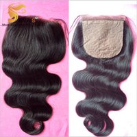 Cheap silk base body wave hair Best 7a silk base closure