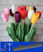 Wholesale Simulation flower single tulip silk flowers artificial flowers mesa desktop floral sitting room MYY3709A