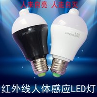 Wholesale led the human body sensor bulb new smart infrared W5W project corridor induction plastic Bulb