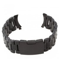 Wholesale Men Women mm Black Steel Watch Band Strap Bracelet High Quality SB0582