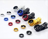 Wholesale 3 in Universal Glass Clip Fish Eye Wide Angle Macro Phone Fisheye Lens For iPhone Samsung Mobile Smart Cell Phone