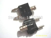 Wholesale 30 BNC female jack to two dual Banana male plug Connector Test adapter