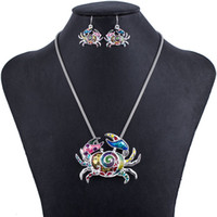 Wholesale MS1504291Fashion Jewelry Sets Hight Quality Necklace Sets For Women Jewelry Multicolor Alloy Ocean Unique Crab Design Party Gift