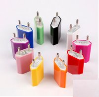 Wholesale 5V mah Colorful EU US Plug USB Wall Charger AC Power Adapter Home Charger for iphone G S G S C Samsung Galaxy S3 S4 S5