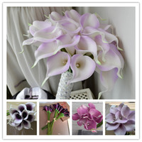 Wholesale Decorative flowers Light Purple calla lily real Touch Calla Lily for Wedding bundles and home decoration