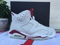Wholesale High Quality New Maroon White Red Mens Basketball Shoes for sale Size US