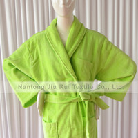 Wholesale High Quality Water Absorption Softness Thick Flannel Bathrobe Color Can Choose For Sale