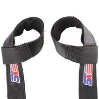 Wholesale 2pcs Sport Hand Wrist Brace Bar Support Gym Strap Belt Weight Lifting Barbell Wrap Body Building Grip
