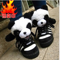 bear furs - Teddy bear children s shoes animal children warm shoes teddy bear shoes plush panda shoes boys girls high help casual shoes