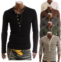 Wholesale 2015 new fashion men s t shirts fake long sleeve T shirt casual mens T shirt mens shirts colour choose black