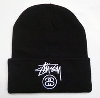 Wholesale New Arrival Stussy Beanie Black Hat Online Cool Men s Women s Embroidered Winter Beanies Hats Knitting Pattern Cap Skull Caps High Quality