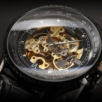 automatic - Classic Luxury Ks Royal Black Big Case Black Automatic Mechanical Skeleton Wrap Relogio Wristwatches Self Wind Men Mechanical Watch KS114