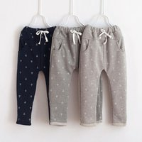 anchor pants - 2015 new Kids Clothes trousers spring autumn boys girls Casual Pants children Anchor trousers pants