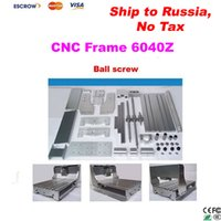 Wholesale No tax to Russia CNC Router frame for Engraving machine engraver parts with ball screw optical axis bearing