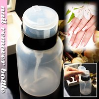 Wholesale Nail Art beauty Cleaner Empty Bottle Pump Dispenser Polish Remover Cleaner Empty Bottle Makeup Plastic new