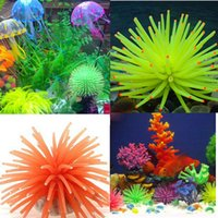 Wholesale 6 Colors Silicone Aquarium Fish Tank Decor Artificial Coral Plant Underwater Ornament Hot PC