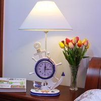 Wholesale Kids bedroom table lamps mediterranean style home lights gifts compass clock lights
