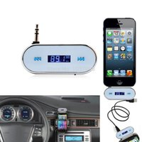 Wholesale 3 mm Audio Stereo In Car Wireless LCD Display Backlight Handsfree FM Transmitter for iPhone HTC Sony Nokia iPad Motorola BD42W