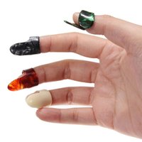 Wholesale 3 Plastic Thumb And Finger Nail Guitar Picks Plectrums Set Accessories