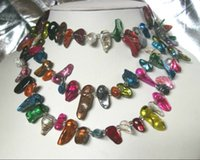 Wholesale Gorgeous SOUTH SEA multicolour BAROQUE pearl necklace