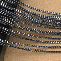 aluminum necklace chain - Meter mm Black Bulk Aluminum Chain For Jewelry Necklace DIY Craft Material Findings F1659