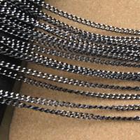bulk meter - Meter mm Black Bulk Aluminum Chain For Jewelry Necklace DIY Craft Material Findings F1659