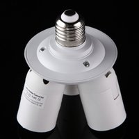 aluminum socket - 3 in E27 Lamp Holder Standard Light Bulb Lamp Socket Adapter Bulbs Installed in Single Socket Splitter