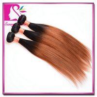 two tone hair extensions - Brazilian Ombre Hair Extension Straight Ombre Human Hair Weave Brazilian Ombre Hair pc Two Tone Brazilian Virgin Hair Straight Weaving