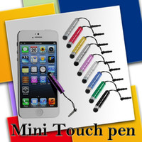 samsung tablet - Stylus Pen Touch Screen Pen Mini Short Capacitive Stylus Pen Touch Screen With Anti Dust Plug For ipad Mini iphone Samsung Galaxy Tablet PC