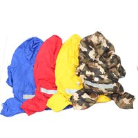 Wholesale New Hot Sale Pet Dog Rain Coat Hoodie Hooded Raincoat Clothes Apparel Size S M L XL
