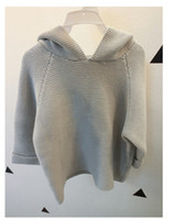 baby clothing suppliers - INS45 New Fashion Baby Girls Tops Rabbit Charater With D Ear Girls Sweatercoats Hooded Girls Clothing Supplier