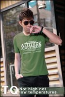 attitude shirts - New men short sleeve shirt attitude worlds M L XL