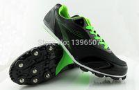 Al por mayor-zapatos de la pista TrackField zapatillas de carreras de tacon zapatos de la pista de spike profesional de salto de longitud de zapatos de Alta Calidad Envío Gratis