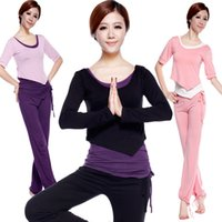 Wholesale Gita Carolina new yoga clothes in autumn and winter female long sleeved fitness yoga clothes Parure big yards modal