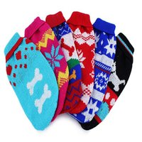 Wholesale 10pcs Christmas Pet Dog Sweater Clothings Multicolor Dog Clothings Vest Samll Size