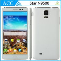 Wholesale STAR N9500 Note quot Smart Phone Quad Core MTK6582 GHz Android MP GB RAM GB ROM Unlocked Mobile Cell Phone free Leather Case
