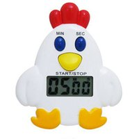 Wholesale NEW Magnetic Chicken shaped Kitchen Countdown Cooking Electronic LCD Digital Timer Timing Alarm