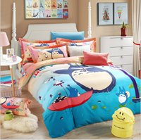 Wholesale Cotton Bedding sets home textile Chinchilla cartoon for Home Upscale full cotton thicker Sanding Four piece suit Bedding Supplie for kids