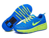 automatic ice - Children Roller Skates Ice Skate Boy Girl Automatic One Wheel Roller Shoes Kids Heelys Sneakers