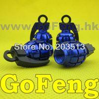 Wholesale 100sets Grenade landmine Wheel Rim Tire Stem Tpms Valves Cap cover white yellow blue black red per set