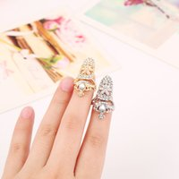 copper nail - European and American fashion personality set auger bow tie Rings Alloy plating Gold Silver ring Finger nail Rings