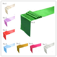 Wholesale 24 Kinds of Color Wedding Table Runner Table Cloth Runners Holiday Favor Party Banquet Decoration