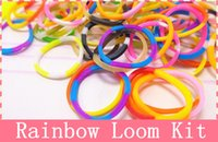 loom bands - Rainbow color rubber band weave loom suit Korean children boys and girls braided bracelet DIY handmade toys