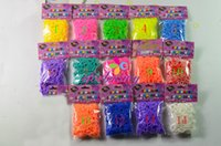 Cheap 600PCS 300PCS Rainbow Loom Bands Set With 12 S-Clips Hook For Kids Wrist Bracelet 14 Colors