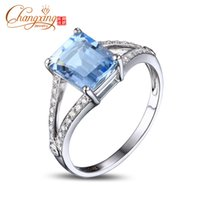 aquamarine and diamond ring - ct Emerald Cut x9mm Blue Aquamarine Pave Diamond k Gold Engagement Ring