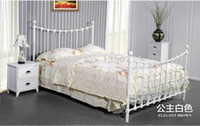 Wholesale Home Furnishing promotion Tieyi bed double bed Mediterranean iron hob bed single bed bedroom furniture