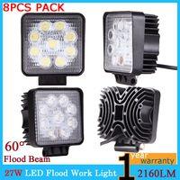 Wholesale 8PCS LED Work Light quot Inch W V V Flood Lamp for Motor Bike Tractor Truck Trailer SUV Off roads Boat Motor Bike WD x4 order lt no tr
