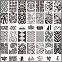 art bc - New Arrival Lace Patterns Nail Art Image Stamp Stamping Plates Manicure BC series nail art stamping plates
