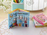 Wholesale 10sets New Cute Cartoon Printed Memo Pad Fashion Creative Colorful Memo Note Pad School Stationery